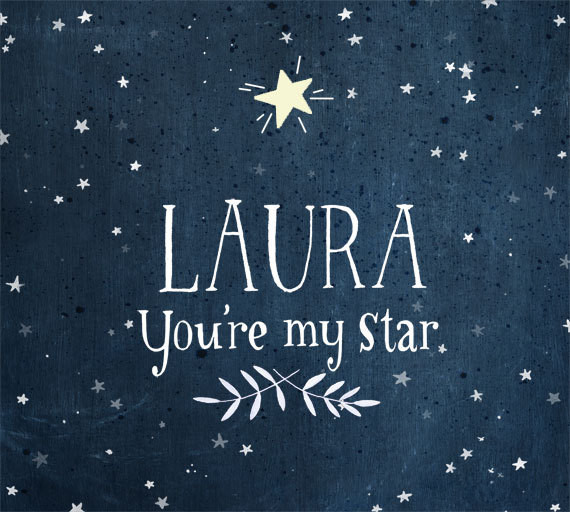 You're My Star Glow In The Dark Personalized Print By Evajuliet contemporary-kids-decor