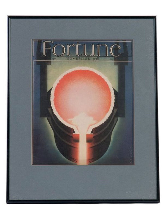 Fortune Print in Black Frame - November 1938 - $99 Est. Retail - $49 on Chairish -