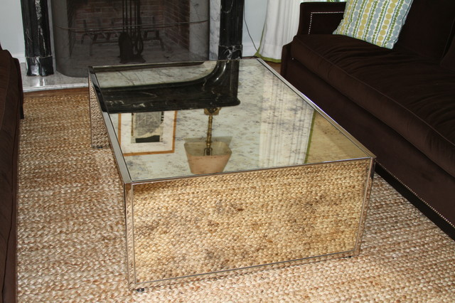 Parsons Mirror Coffee Table Modern Coffee Tables Los Angeles By Mpm Design