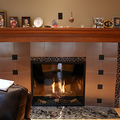 Gas Fireplace in Chattanooga traditional