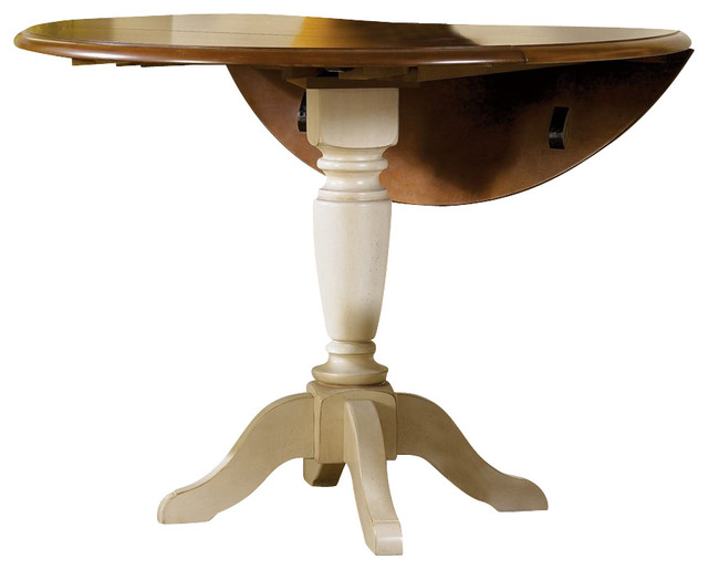 Liberty Furniture Low Country Sand 42 Inch Round Drop Leaf Pedestal Table - Traditional - Dining ...