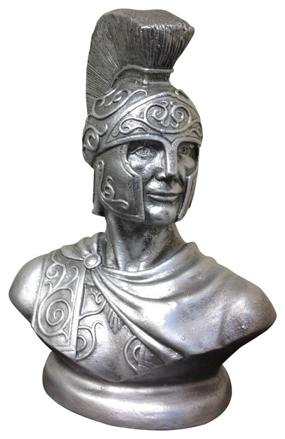 Spartan warrior bust greek god roman soldier statue sculpture traditional - Statue decorative interieur ...