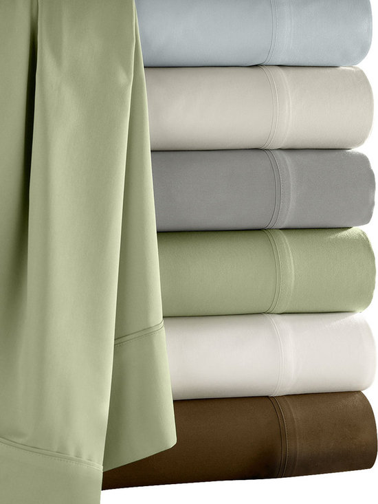 Luxor Linens - Camelot Bamboo Sheet Set, Queen, Chocolate - Make your bed in cozy style with these dreamy bamboo sheets. Ecofriendly and extra soft in cool, calming colors, they're a good night's sleep waiting to happen.