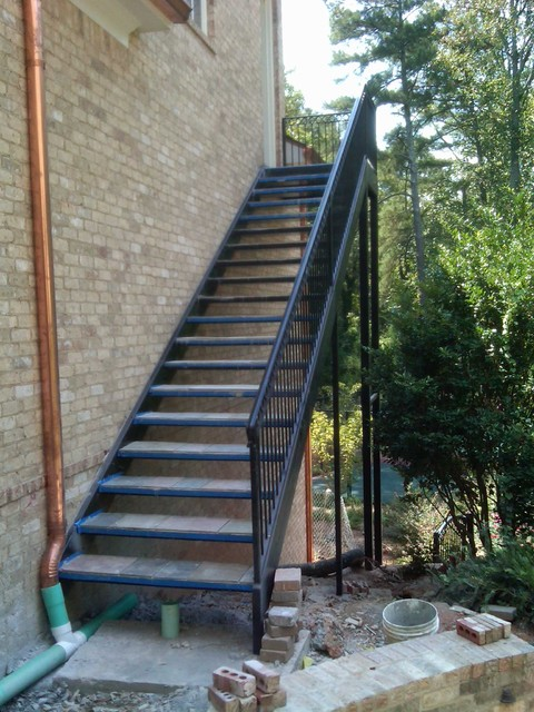 spiral staircase metal stairs contemporary outdoor products atlanta by womack iron