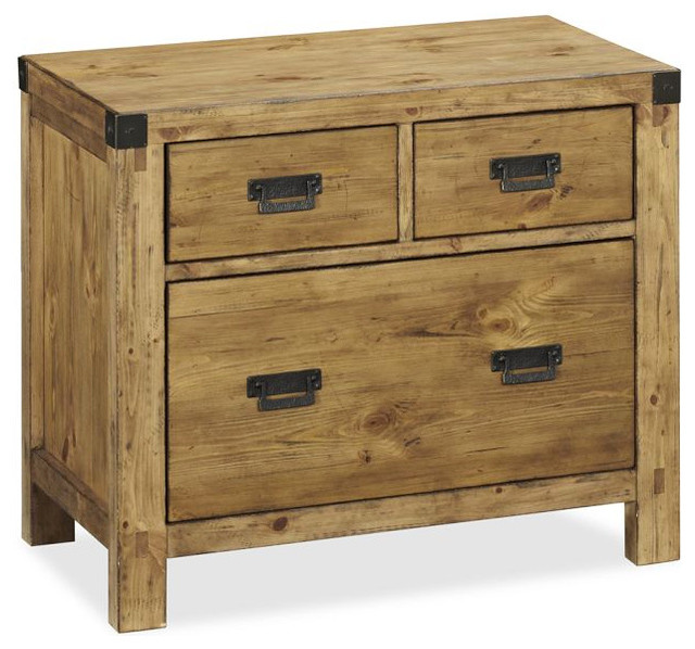 Hendrix Lateral File Cabinet Heirloom Pine Finish