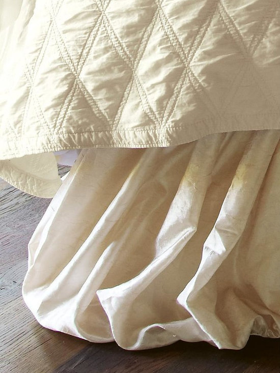 Balloon Bedskirt - The silky, billowing fabric of this luxurious lined bedskirt suggests romantic nights in distant lands.