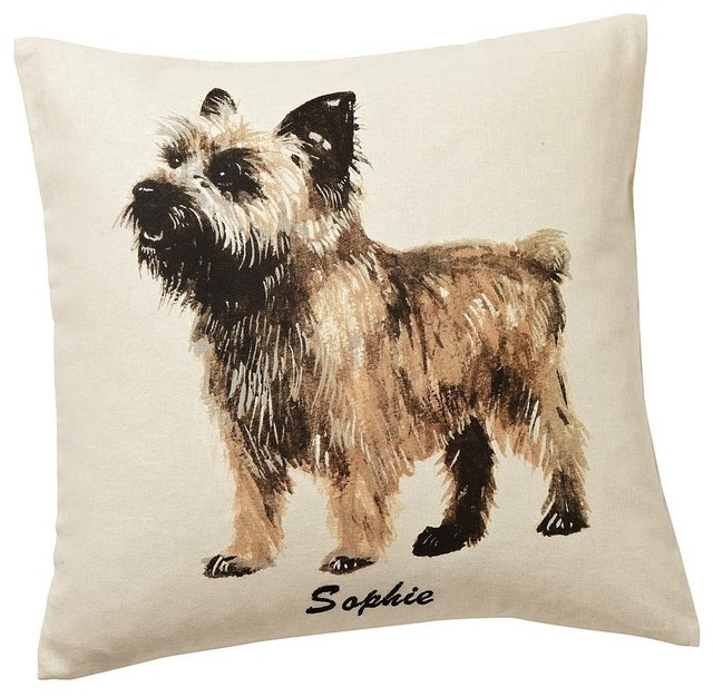 Painted Dog Pillow Covers eclectic-pillows