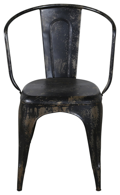 miller metal chair black industrial dining chairs by c g