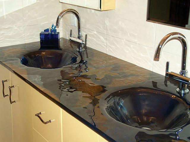 Glass sinks contemporary-bathroom-sinks