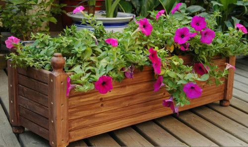 Garden wood planter boxes flower planters modern by - Wooden containers for flowers ...