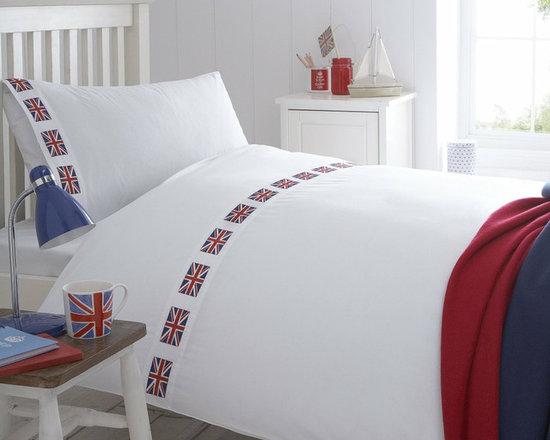 Union Jack Flag Organic Cotton Duvet Cover -