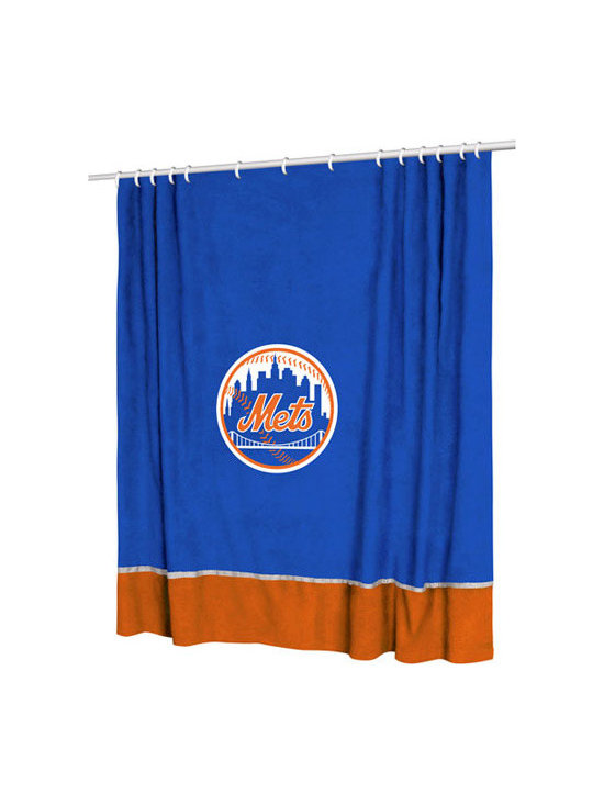 Sports Coverage - MLB New York Mets MVP Shower Curtain - Features: