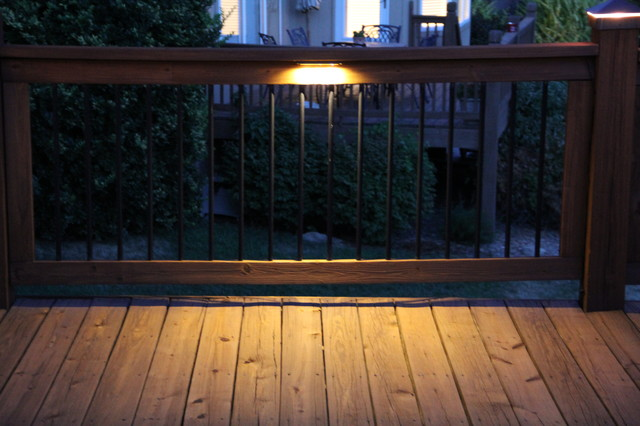 deck lighting under rail lights traditional kansas