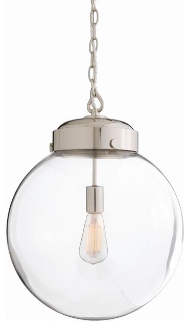 Reeves Nickel Pendant, Large traditional-pendant-lighting