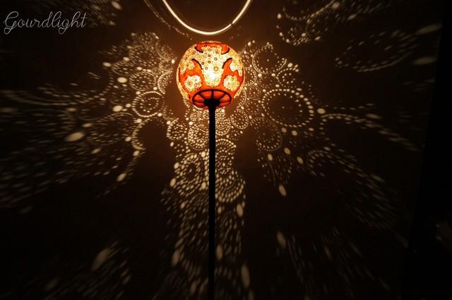 Handcrafted gourd lamp - Floor lamp I - Gourdlight craftsman-floor-lamps