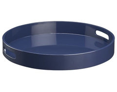 Samba Round Blue Tray contemporary serveware