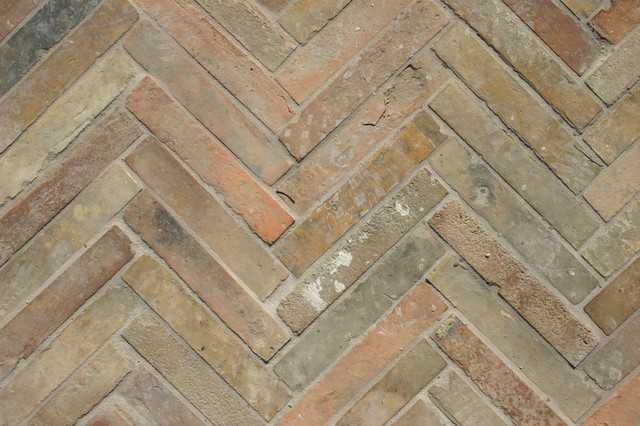 French Terracotta Parefeuille Strips Eclectic Wall And