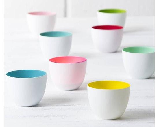Porcelain Colour Pop Tea Light Holders Set Of Eight -