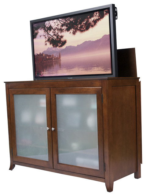 """Brookside TV Lift Cabinet for flat screen TV's up to 55"""" contemporary-home-electronics"""