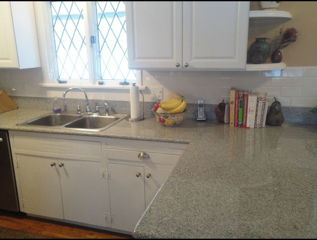 Lazy Granite Imperial White Countertops Traditional
