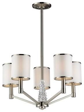ELK Lighting Zanzabar 17124/5 Chandelier - Satin Nickel - 22W in. modern-chandeliers