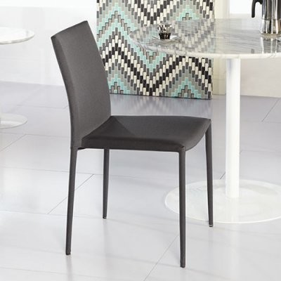Euro style chessa low back dining side chair gray set for Modern low back dining chairs