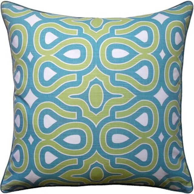 HGTV Turquoise Modern Turtleshell Pillow - Contemporary - Decorative Pillows - by 5 Surry Lane