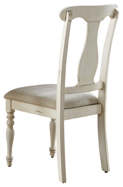 Liberty Furniture Ocean Isle Traditional Side Chair in White, Beige (Set of 2) traditional-dining-chairs