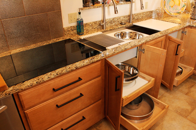 Kohler Galley Sink : Galley Sink with Pullout Storage -tile