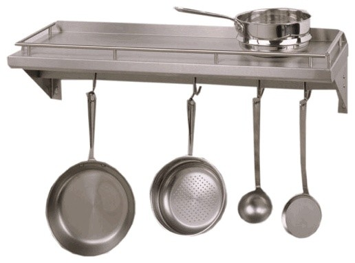 Cucina Mensola Grande Shelf with Pot Rack contemporary-pot-racks-and-accessories