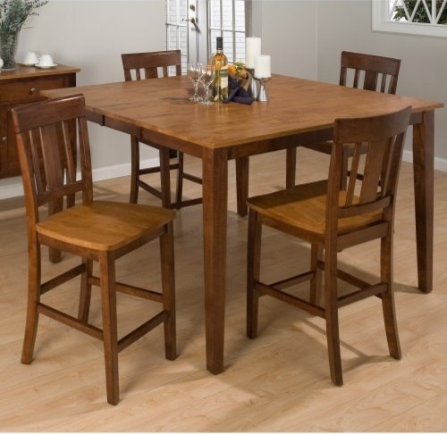 Jofran Kura Canyon 5 Piece Counter Height Dining Table Set - 54W in. modern-dining-tables