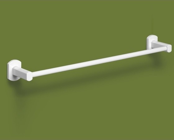 Lacquered White Brass 14 Inch Towel Bar by Gedy contemporary-towel-bars-and-hooks