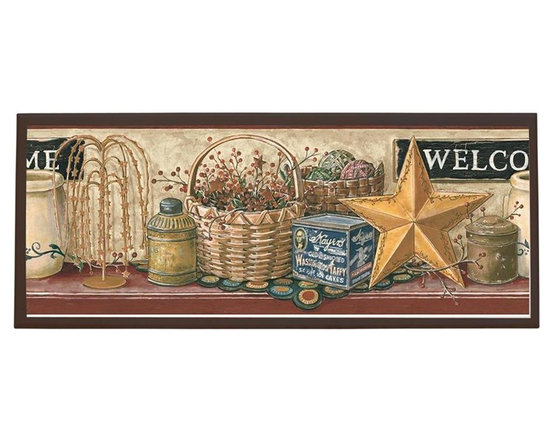 illumalite Designs - Country Welcome Sign Plaque - Includes hardware for hanging. Hand painted brown border. Ready to be hung. Made from wood. Made in USA. 25.5 in. W x 10 in. H (4 lbs.)This charming country themed plaque is the perfect addition to any room. This plaque is the ideal size to add a country touch to any wall.