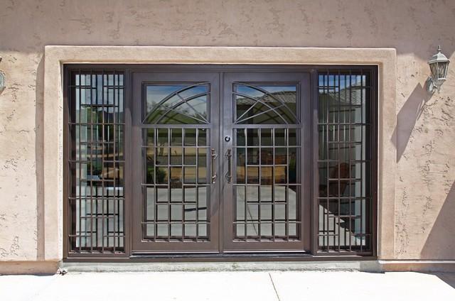 Modern Iron Entry Door By First Impression Security Doors Mediterranean F