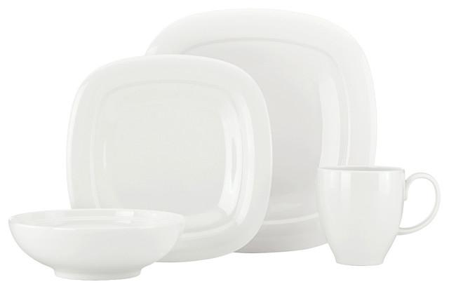 Lenox Aspen Ridge Square 4-piece Place Setting contemporary-dinnerware-sets
