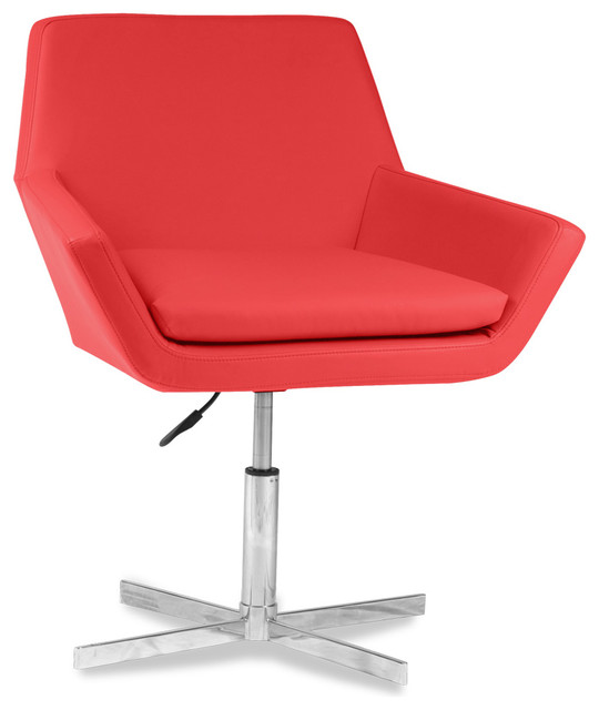 Arden Red Faux Leather Chair modern-accent-chairs