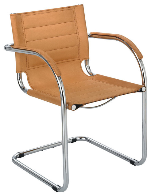 Flaunt Guest Chair Camel Micro Fiber Modern Office Chairs