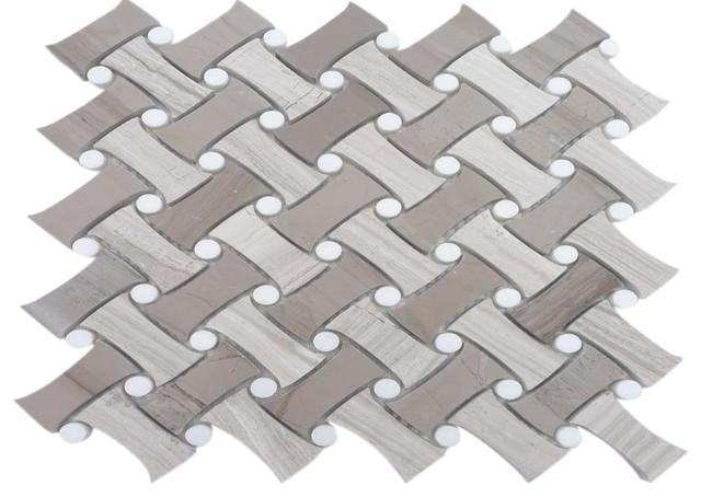 Filigree Portabello Marble Tile modern-tile