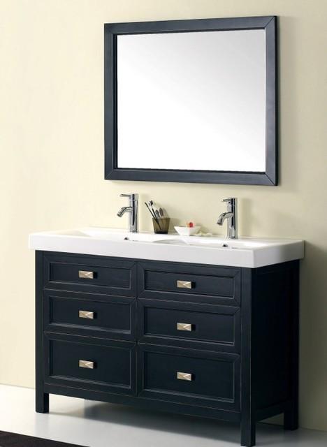 1200mm Freestanding Vanity - Black Vanity - Torun modern-bathroom-vanities-and-sink-consoles