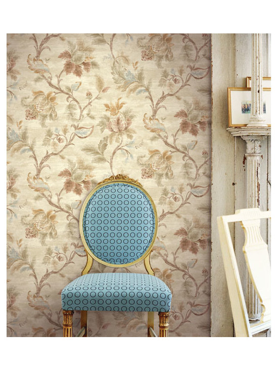 Vintage Wallpaper - A vintage inspired wallpaper design available from Brewster Home Fashions