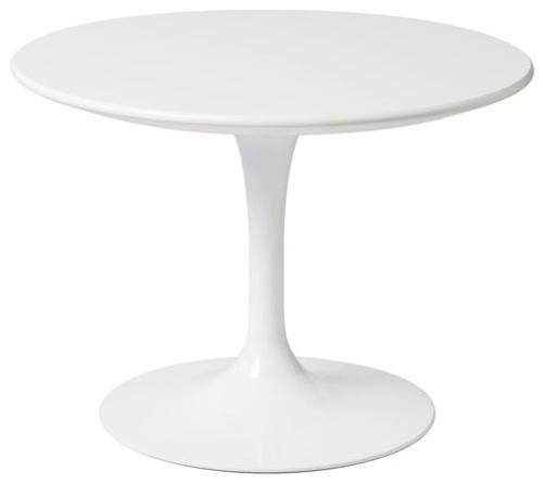 Knoll Kids Round Tulip Side Table White Modern Kids
