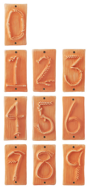 TERRA COTTA CLAY HOUSE NUMBERS eclectic-house-numbers