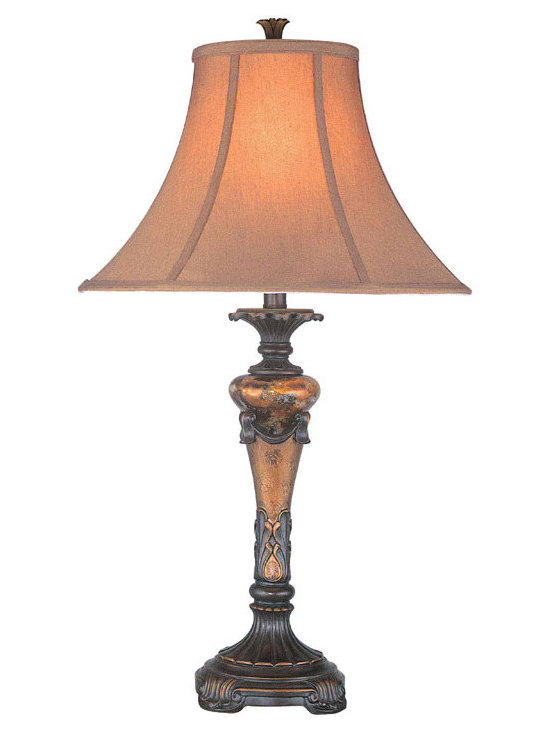Lite Source - Table Lamp - Oil Rubbed Bronze/Fabric Shade - Table Lamp - Oil Rubbed Bronze/Fabric Shade