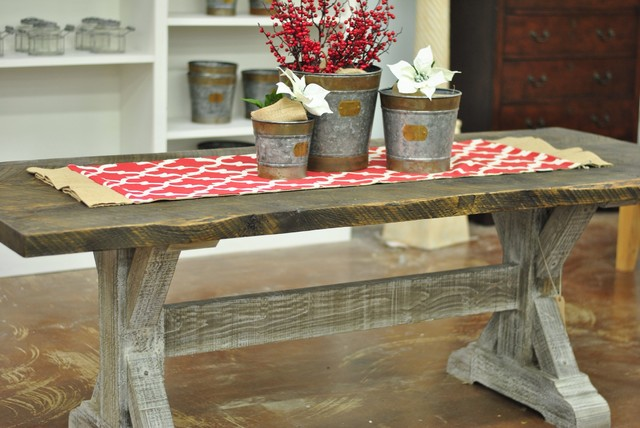 quotBaytownquot Trestle 84quot Reclaimed Wood Dining Table  : country dining tables from www.houzz.com size 640 x 428 jpeg 75kB