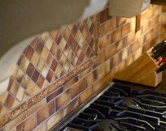 Close-up of tile backsplash kitchen