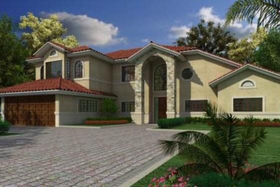 House Plan 420-137 mediterranean-rendering