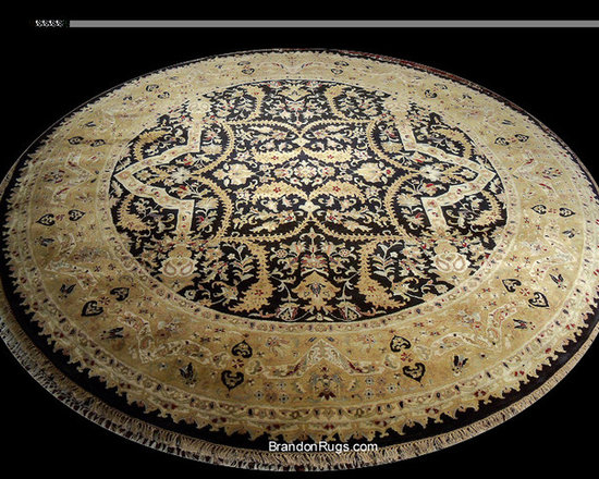 """Symphonies in the Round - Our client, a design company in Bucks County, Pennsylvania requested us to locate a """"broad selection"""" of round rugs for consideration by their client for use in a section of an open floor-plan living room in their Princeton, NJ home. http://brandonrugs.blogspot.com/2012/04/symphonies-in-round-new-inventory.html"""