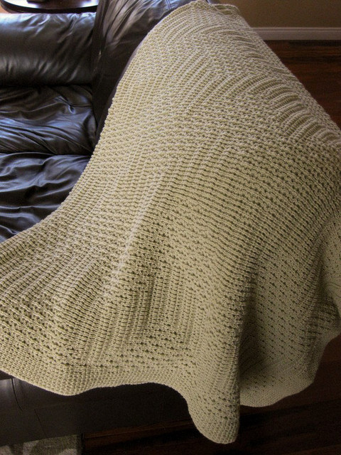 Knitting Pattern For Throw Rug : Afghan Double Knit Throw Blanket, Toffee by TG Knits traditional-throws
