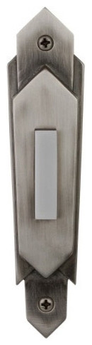 Art Deco Surface Mount Push Button Door Bell contemporary-accessories-and-decor