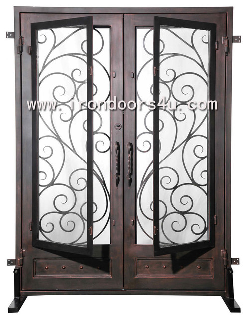 Elegant iron front door dsd 004 traditional front for Elegant front doors